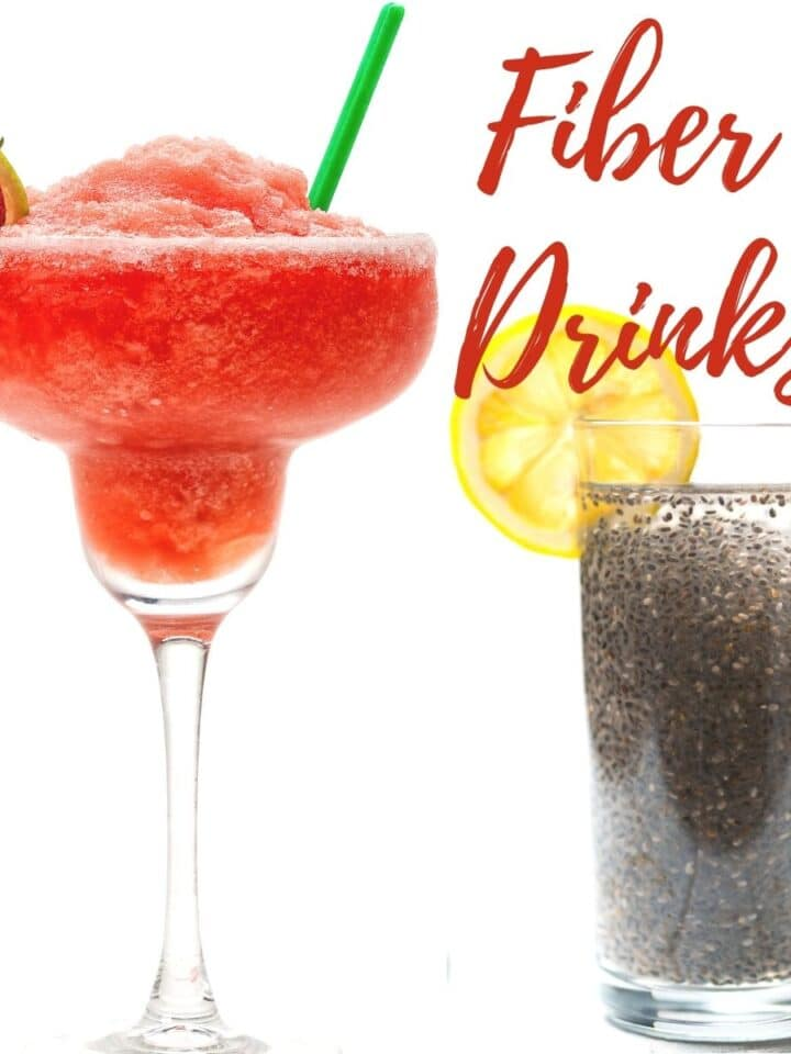 2 fiber rich drinks with berries